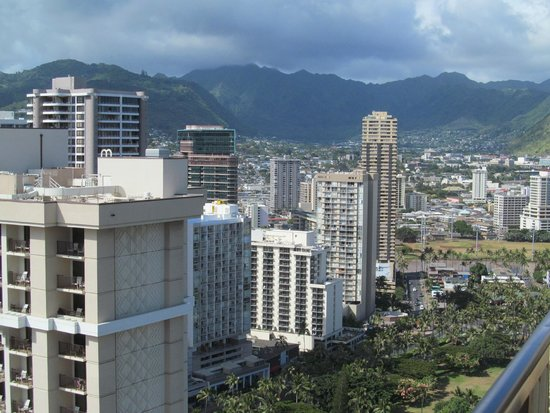 """Hilton Hawaiian Village Waikiki Beach Resort : This was our """"resort view"""" from our balcony looking to our right."""