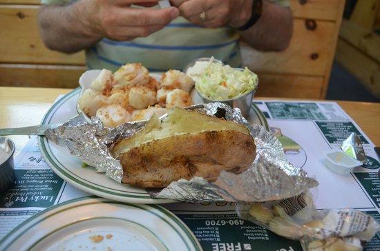 North Berwick, ME: Jim's meal.