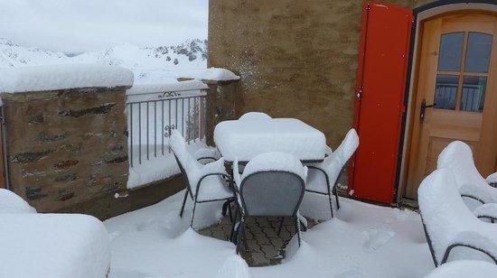 Rifugio Garibaldi: We had a lot of snow, even in late June!