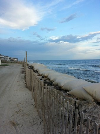 The Winds Resort Beach Club: Taken also near the end of the Island where some of the sand has washed away from storms.