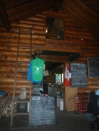 Lake Agnes Teahouse : The staff live in the hole above the kitchen!