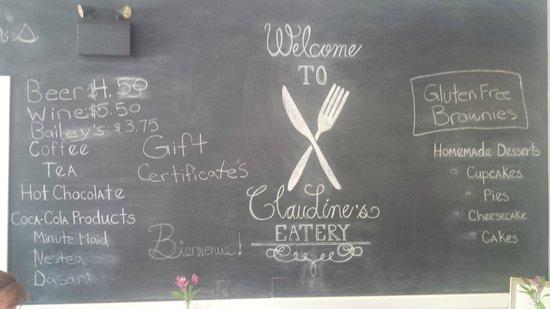 Claudine's Eatery : inside