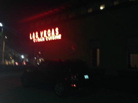 Las Vegas Cuban Cuisine : Las Vegas at night!!