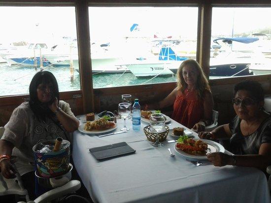Restaurante La Regatta : vista al mar desde el restaurante