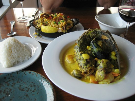 Puerto 27: Dorade (Fish) with Amarula Sauce, Paella