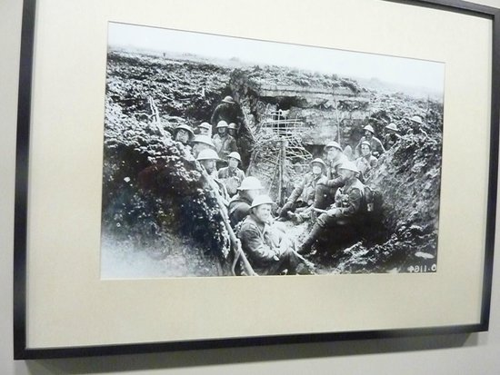 Mémorial de Vimy : A picture of the soldiers inside the museum