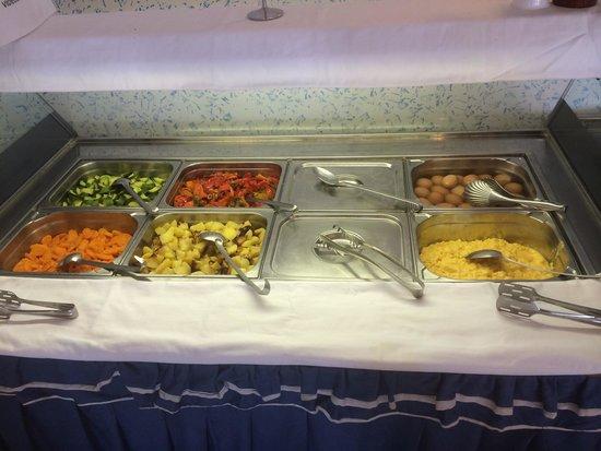Hotel Weber Ambassador Capri: Salato e contorni a colazione