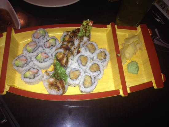Asian Gourmet : One of the sushi entrees, everything was delicious