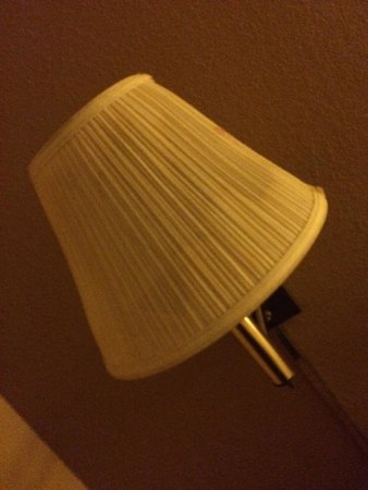 Days Inn & Suites Cincinnati: stained lampshade (had cobwebs on the inside)
