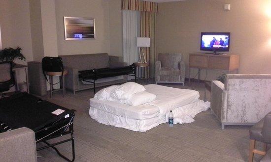 Holiday Inn San Antonio International Airport: My nest I had to make to sleep!