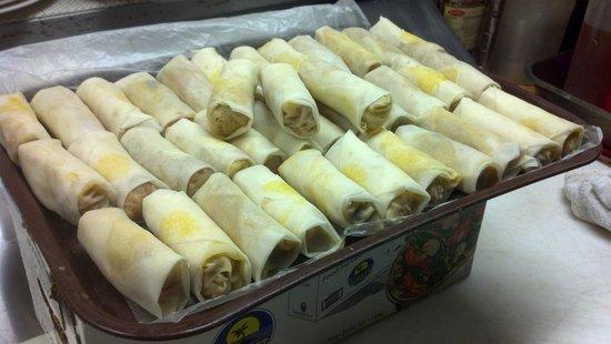 Thai Tida Restaurant: our homemade vegetable spring rolls....