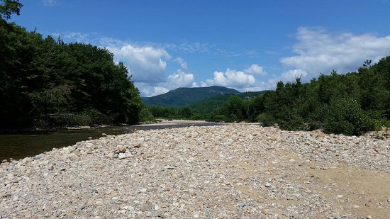 Glen Ellis Family Campground: View from beach - tubing launch on Saco river.