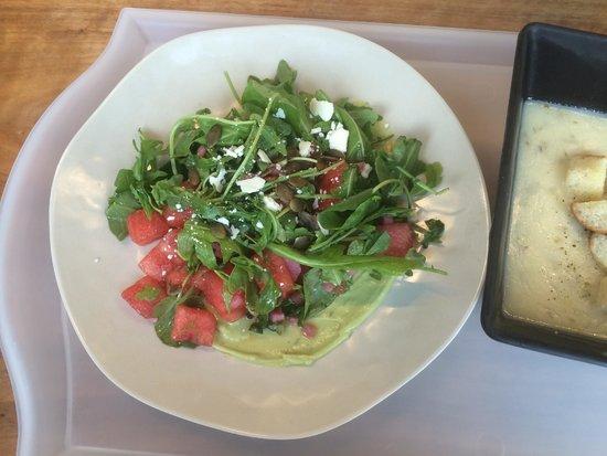 Exploratorium : Amazing watermelon, pepita, goat cheese salad - Seaglass Restaurant