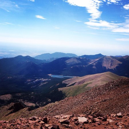 View from the top of Pike's Peak - Picture of Pikes Peak ...