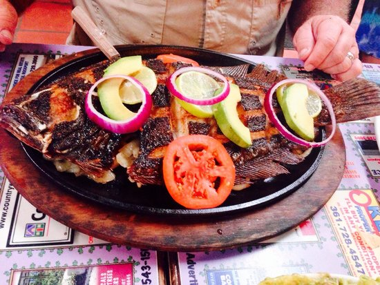 Los Comales Mexican Restaurant: The flounder- large ( it's huge!) very good!!!
