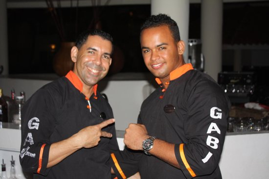 The Reserve at Paradisus Palma Real : Two of the best servers at Gabi Club, Juan and Arronis.