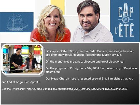 Cap Sur L Ete Tv Program Radio Canada Picture Of Anga Cuisine Inspiree Montreal Tripadvisor