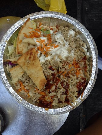 The Halal Guys : Chicken over rice