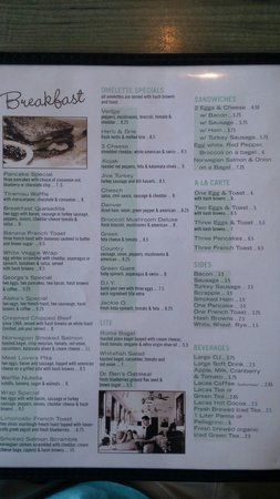 George's Place: Look at this menu!!!