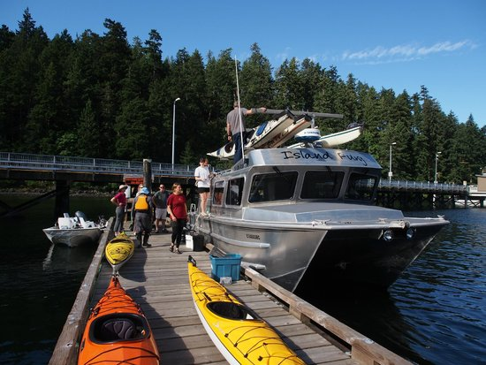 Spirit of the West Adventures: Loading the Water Taxi on Quadra Island