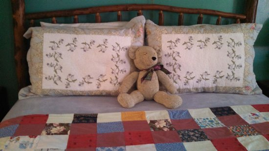 Cyndi's Snowline Lodge: Teddy was waiting for me when I opened my door