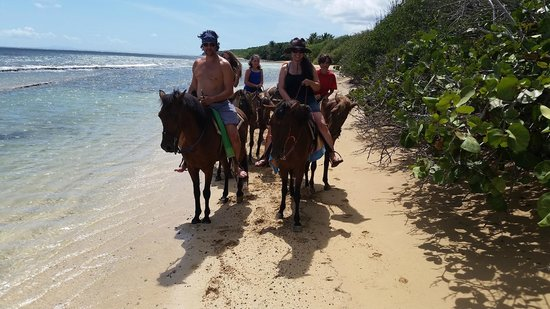 SeaGate Hotel: Riding on the beach in paradise!