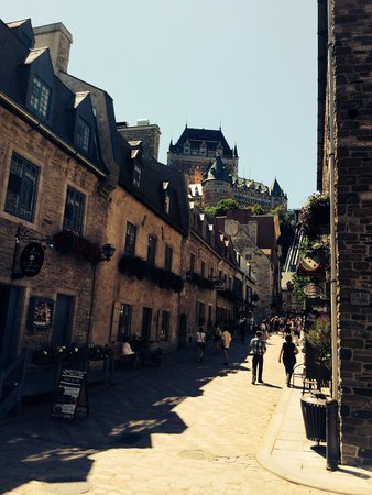 Lower Town (Basse-Ville): Famous Frontenac in Background