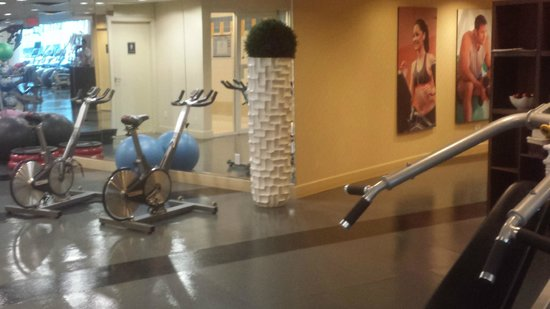 Vancouver Marriott Pinnacle Downtown Hotel: Gym View
