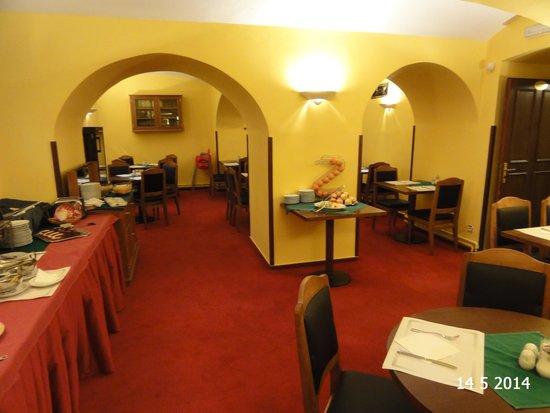 Hotel Dvorak: The basement breakfast room