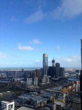 Sofitel Melbourne on Collins: Looking southwest toward Bay