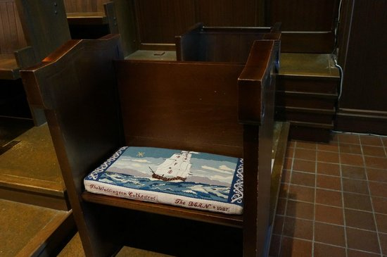 Wellington Cathedral of St. Paul : kneeling cushion