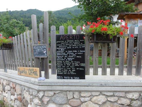 Agritur Malga Mortigola: menu