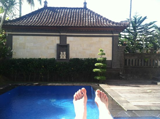 Villa Agung Khalia: View from chaise lounge outside the Lotus Suite