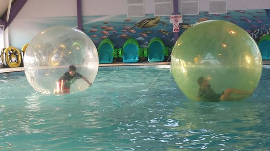 Combe Haven Holiday Park - Haven: My boys on the water walkers