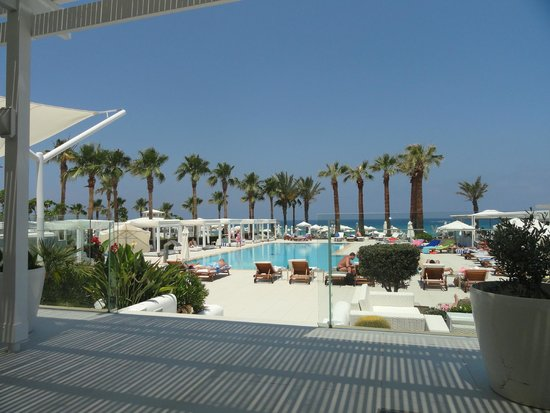 Vrissiana Beach Hotel: View from Lunch Dining Area