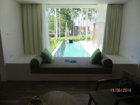 Candi Beach Resort & Spa: Blick aus dem Wohnzimmer