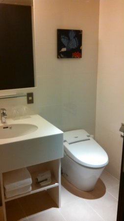 THE GATE HOTEL Asakusa Kaminarimon by HULIC: sink and toilet area