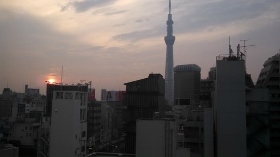 THE GATE HOTEL Asakusa Kaminarimon by HULIC: view from room at sunrise