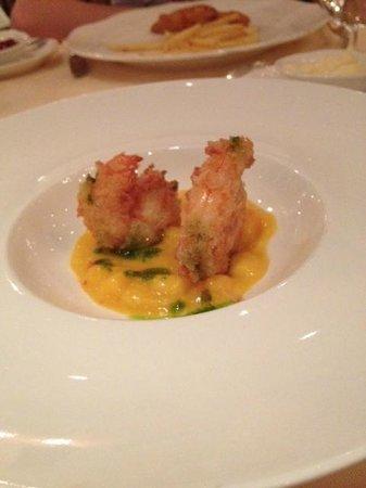 Hotel Alte Post: crevettes sauce mangue un délice