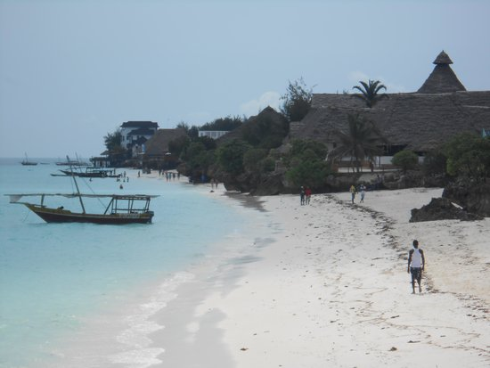 Royal Zanzibar Beach Resort: The beach from the sun deck