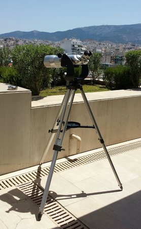 IC Athenaeum - Telescope on Club Terrace