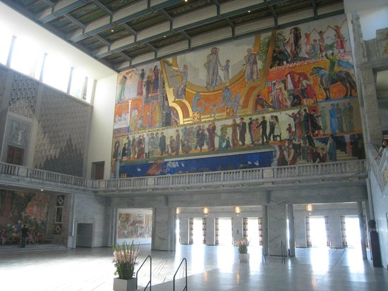 Oslo City Hall (Oslo Radhus): The room where the Nobel Peace prize is awarded