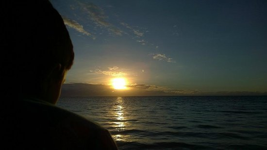 Joelan Beach Fales: Watching the sun rise with my son