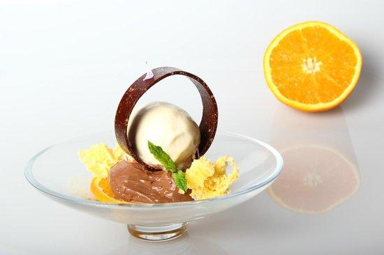 Restaurante Solana: chocolate , naranja , cacahuete