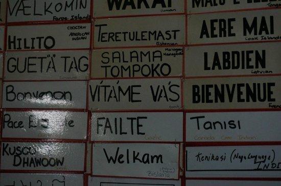 Otorohanga Kiwi House & Native Bird Park: welcome in different languages