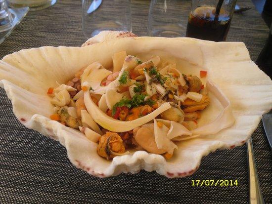 Restaurant Le Cesar: Bénitier de fruits de mer
