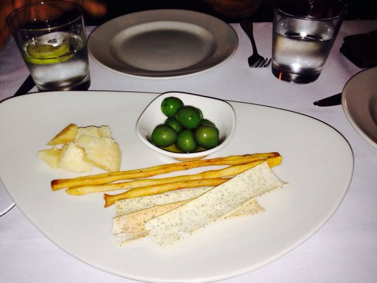 Esca Grill: My favourite Parmesan cheese served with olives and crackers. Only quality ingredients!