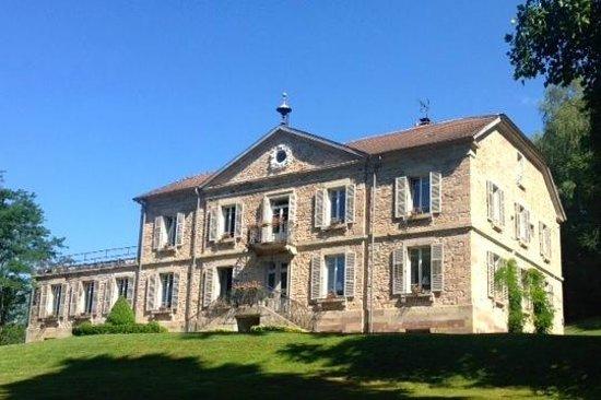 Chateau de la Houillere : Chateau De Houillere - front view from drive