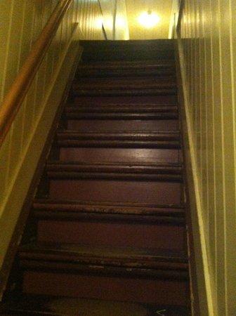 casa de anna frank una de las escaleras