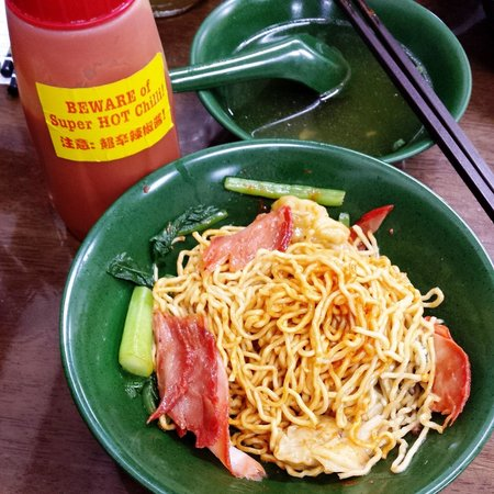 Engs Noodle House Wanton Noodles After Adding Their Homemade Chilli